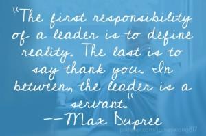 max dupree - leadership defined
